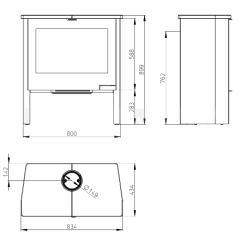 Sörpad garnitúra 50 cm széles asztallal