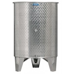 ZOTTEL Úszófedeles INOX bortartály 2 csappal 600l
